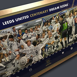 Leeds united centenary painting framed b