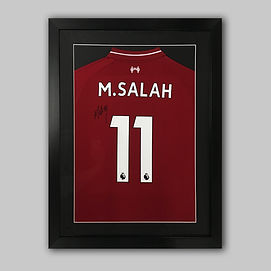 M Salah Liverpool football shirt framed
