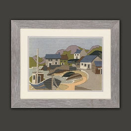 Sewing art framed by English Framing Co