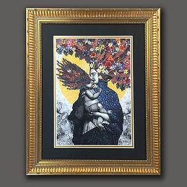 Dan Hillier print framed by English Fram