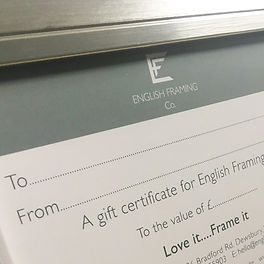 Gift Certificates available at English F