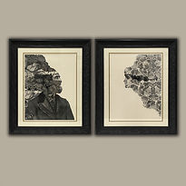 Dan Hillier art prints framed by English