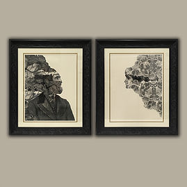 Dan Hillier art prints framed by English