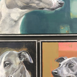 D is for Dog Fine art framed by English