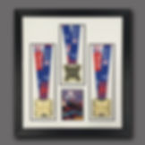 Jujitsu sports medal framed by English F