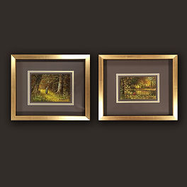 Small oil paintings framed 1 by English