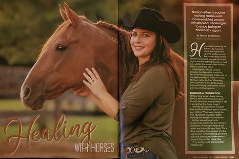 nadia heffner and BLM mustang horse