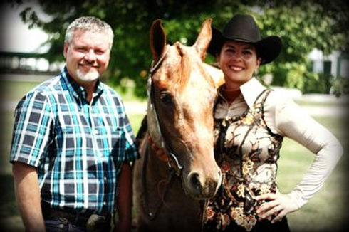 nadia heffner and mark christopher of double h horse farm