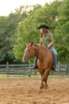 nadia heffner riding BLM mustang