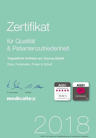AQS1-Zertifikat 2018