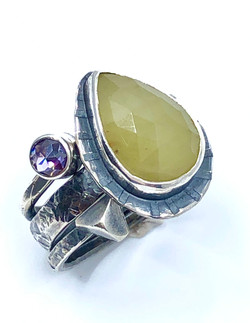 Saphire Stack Ring