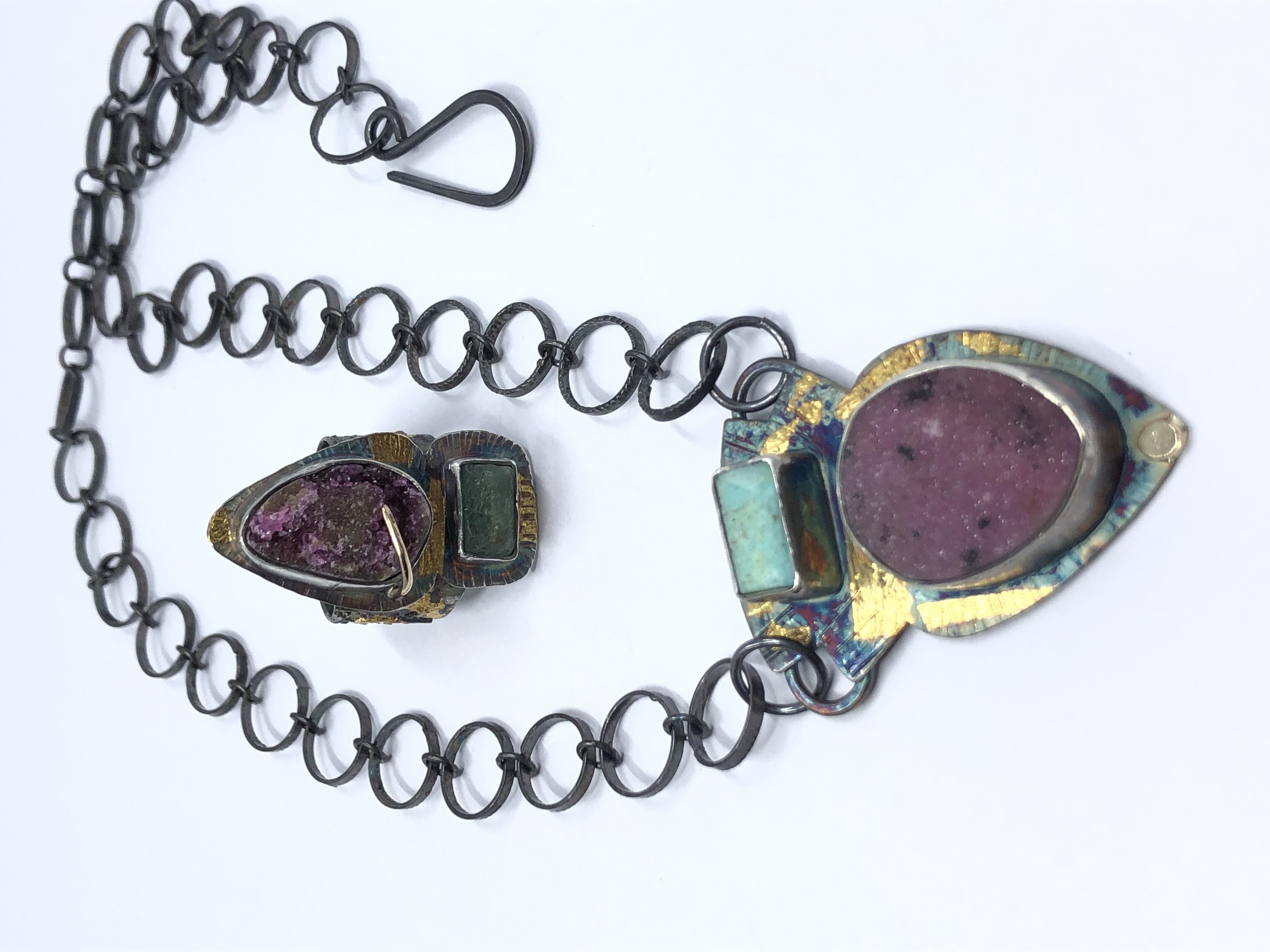 Colbalto and turquoise Neckpiece