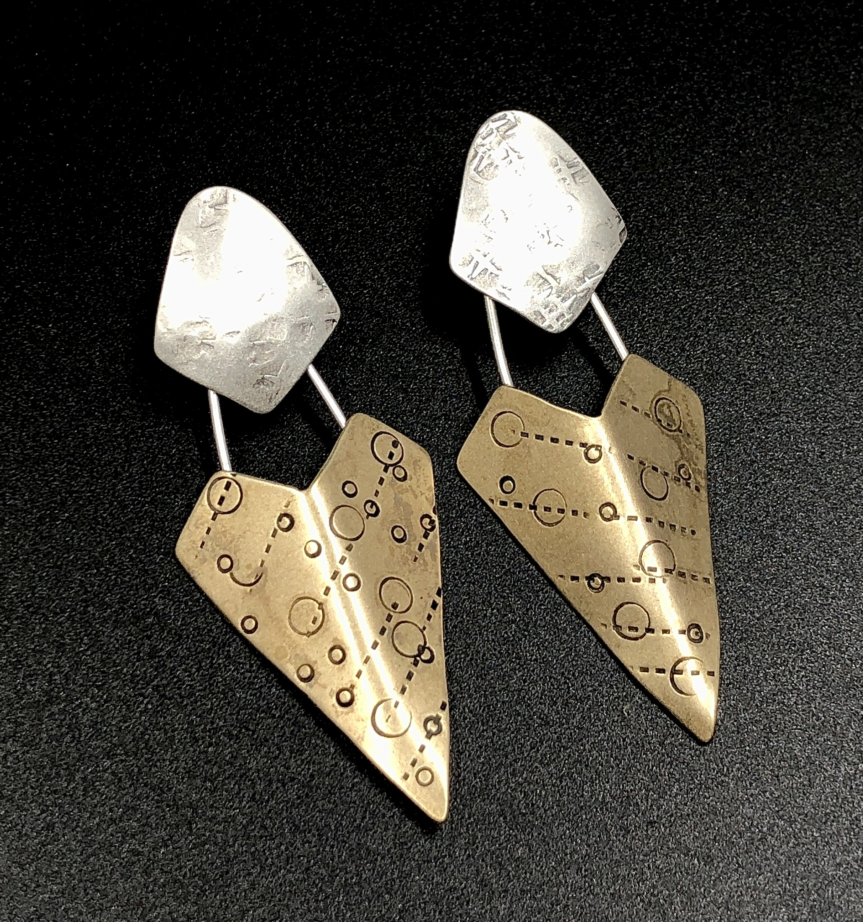 Dagger Shield Earrings