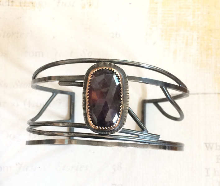 Sterling and Sapphire Cuff