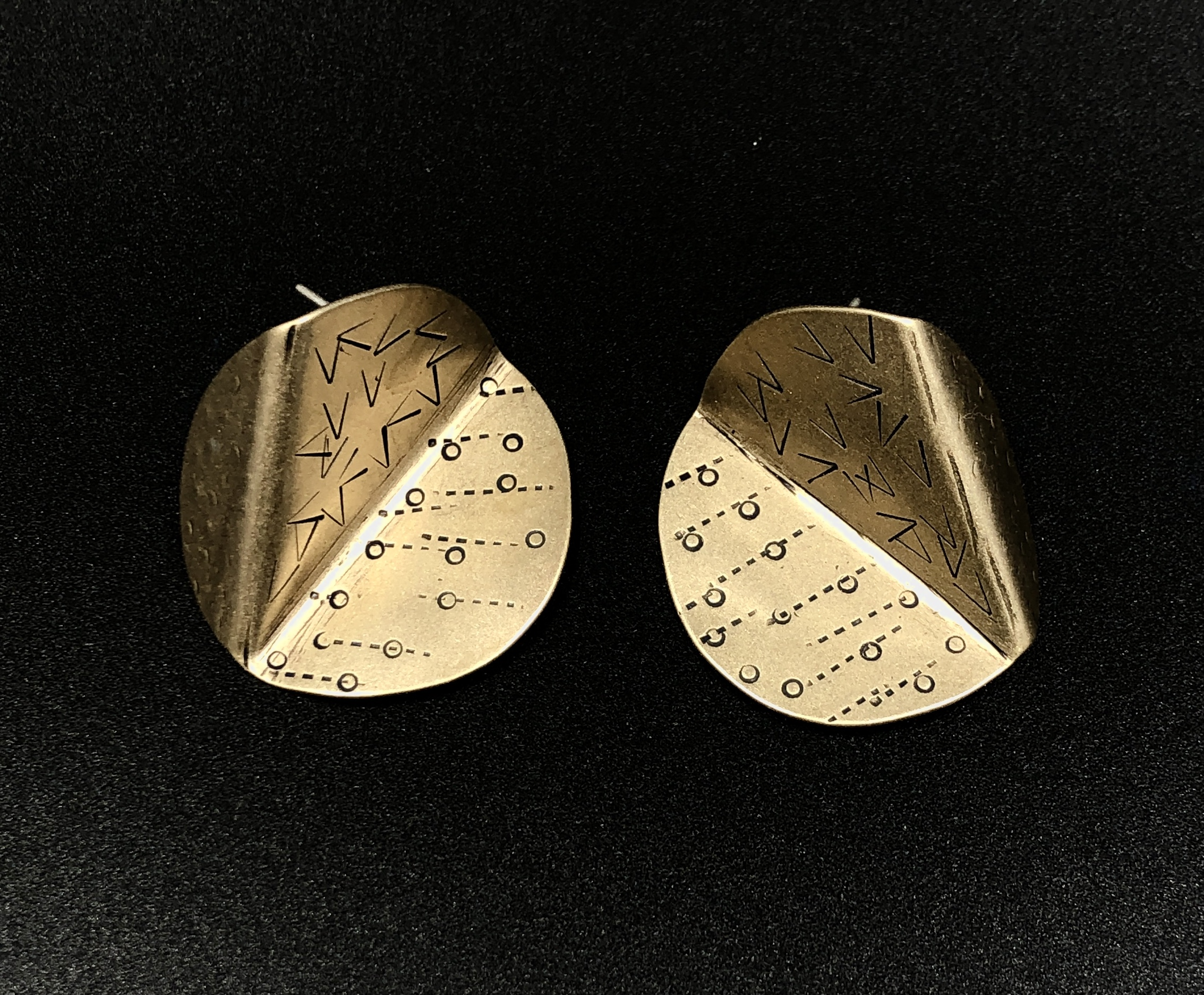 Brass Disc ears