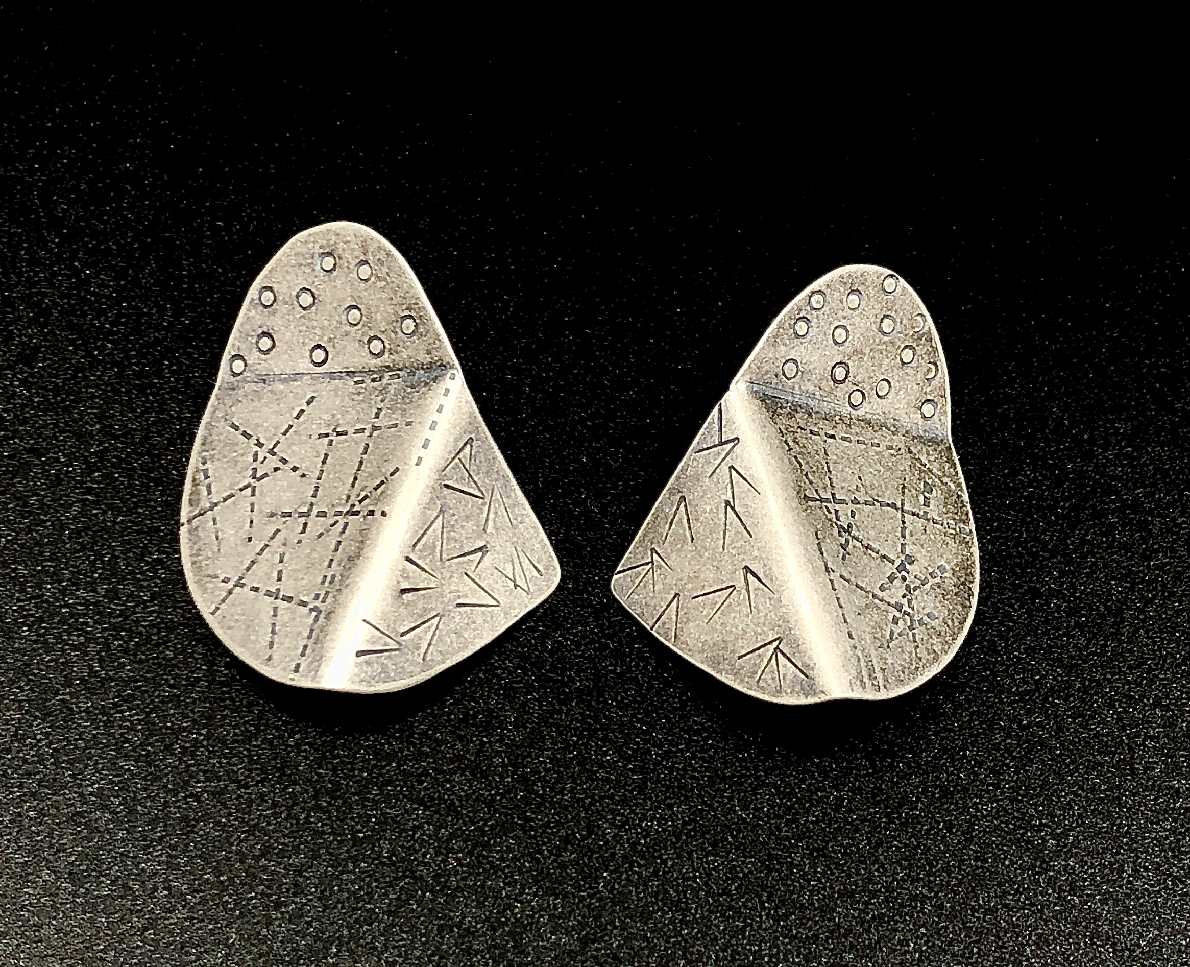 Sterling folded earrings