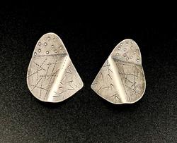 Sterling folded earrings