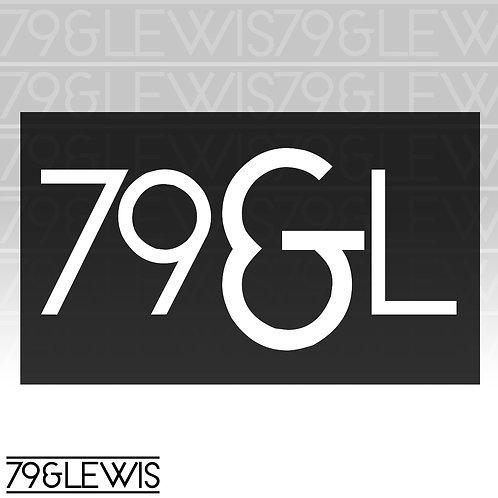 """79&L Sticker 6""""White"""