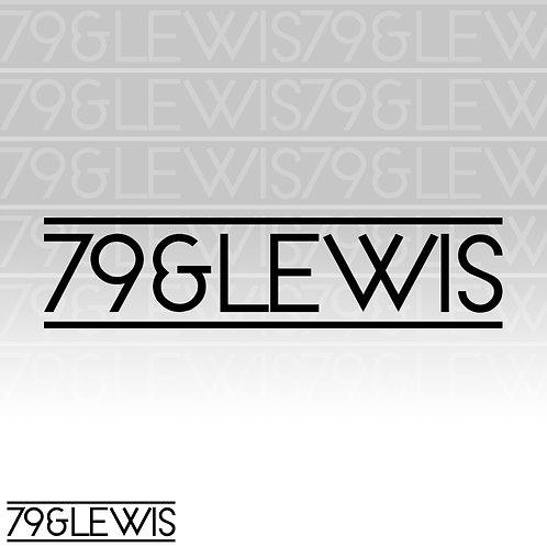 """79&Lewis Sticker 6"""" Black"""