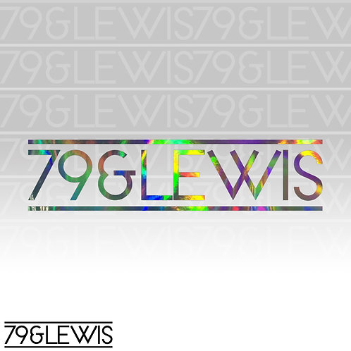 "79&Lewis Sticker 6"" Crackle Hologram"