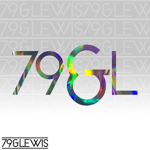 """79&L Sticker 6"""" Crackle Hologram"""
