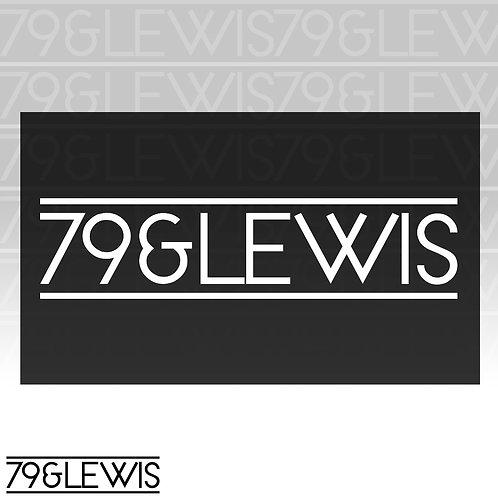 """79&Lewis Sticker 6""""White"""
