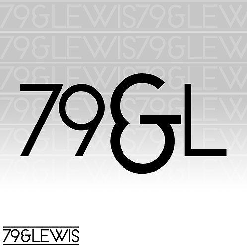 """79&L Sticker 6"""" Black"""