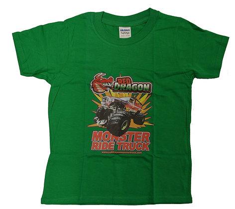 Red Dragon Green Childrens T-Shirt