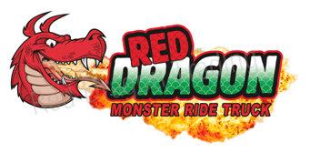 Red Dragon Monster Truck Sticker