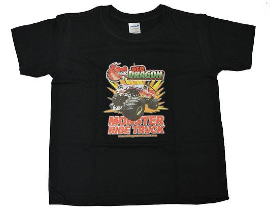 Red Dragon Black Childrens T-Shirt