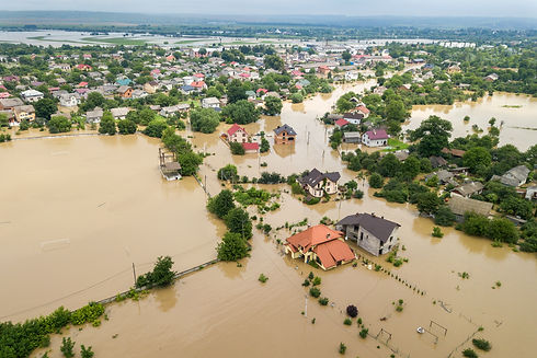 aerial-view-flooded-houses-with-dirty-wa