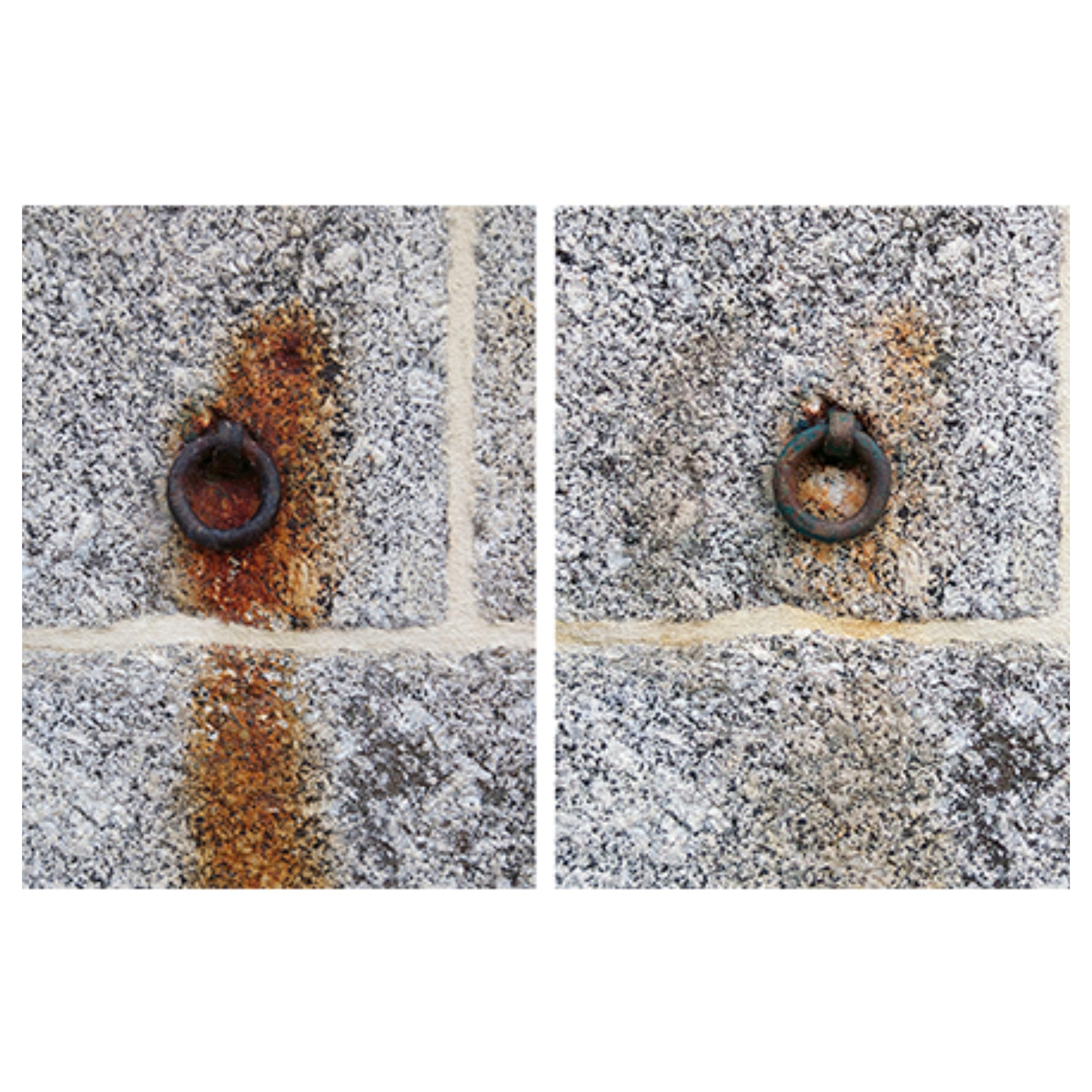 antes e depois - pedra