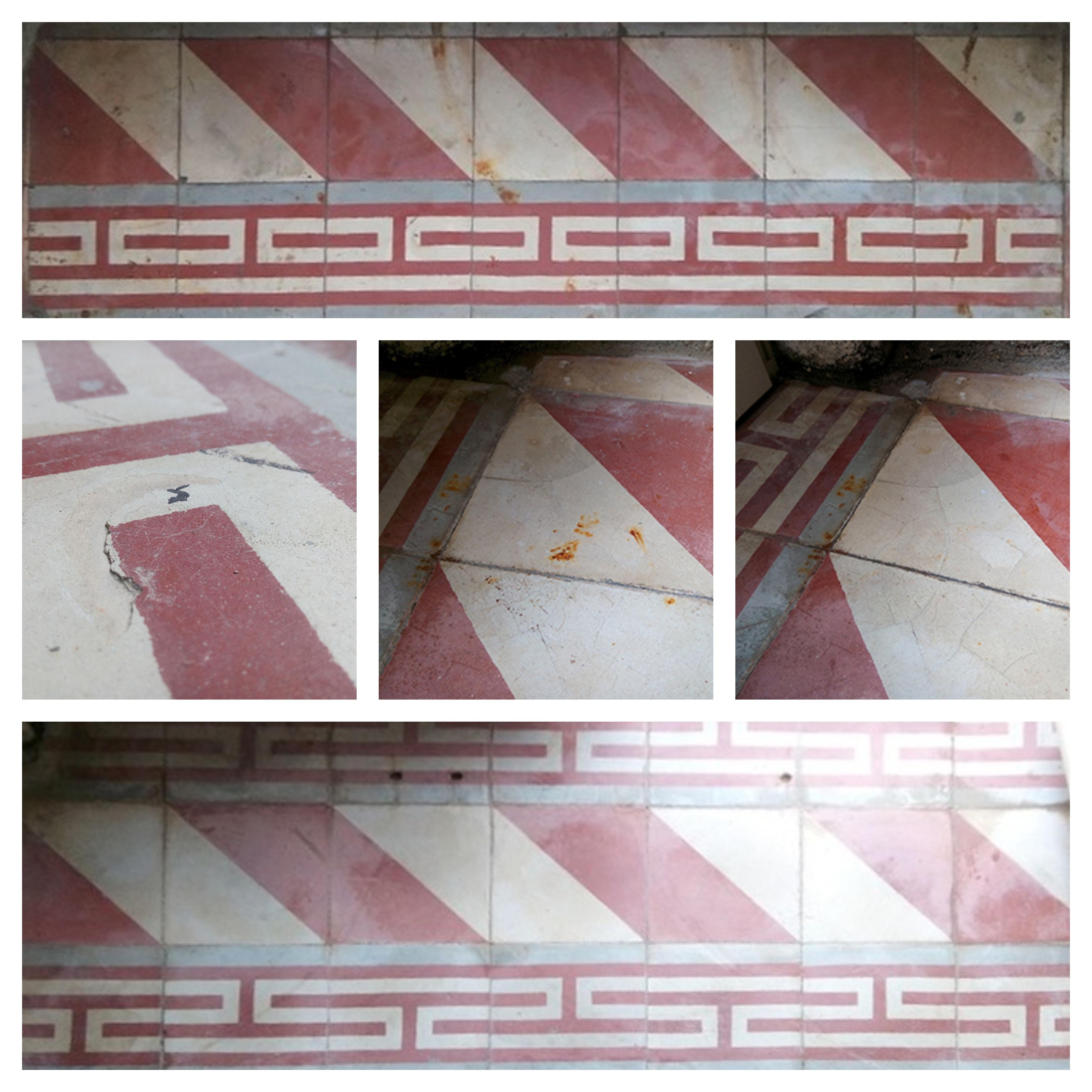 antes e depois - mosaicos hidráulicos