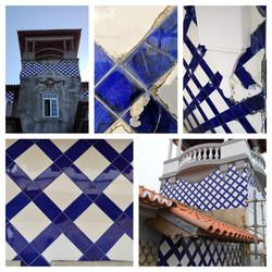 antes, durante e depois - azulejos enxaq
