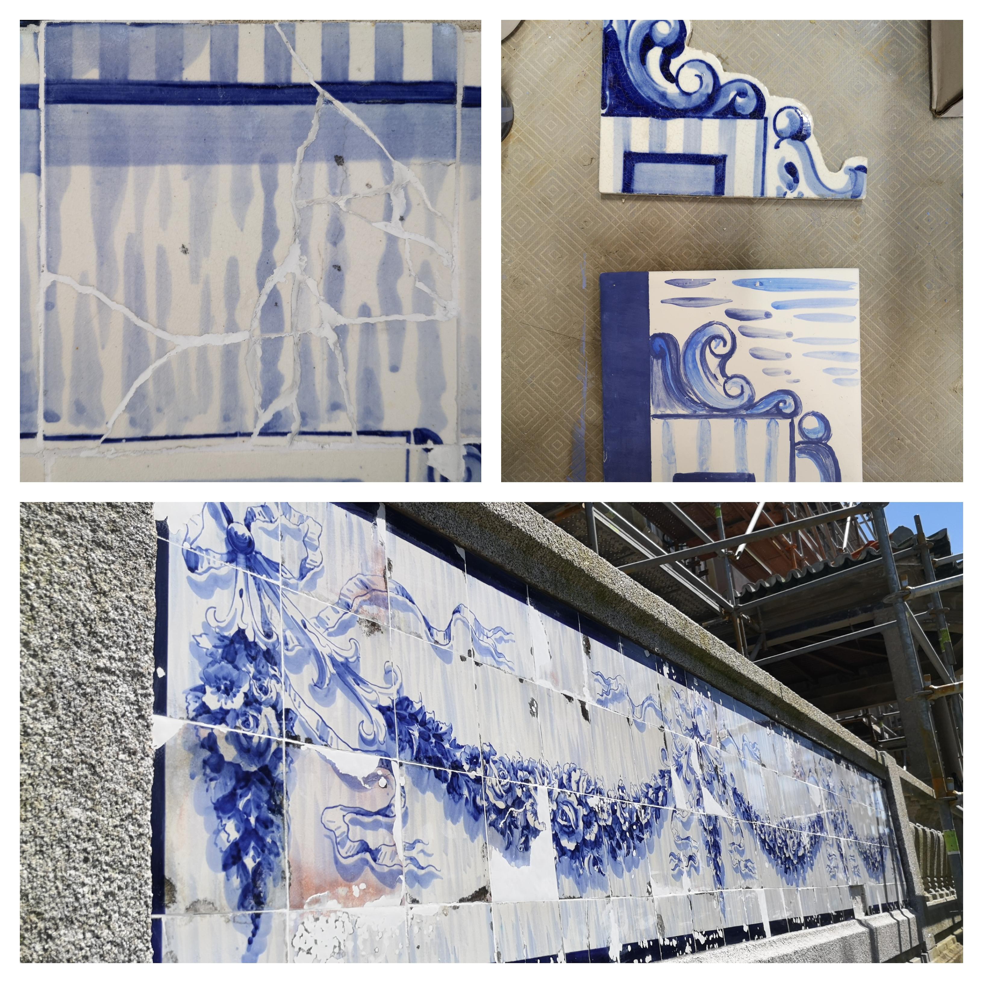 intervenção - painéis azulejares