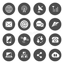 communications-icons-vector-black-circle