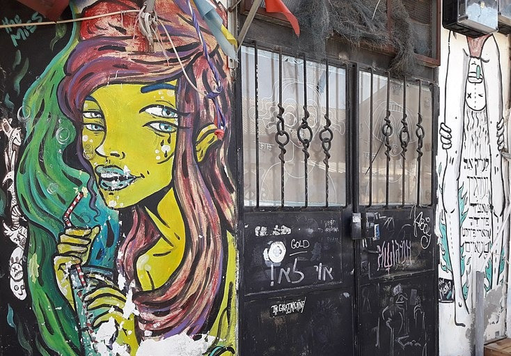 Graffiti in Florentin by Ovedc
