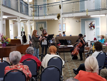 Fiddlers at assisted living performance.