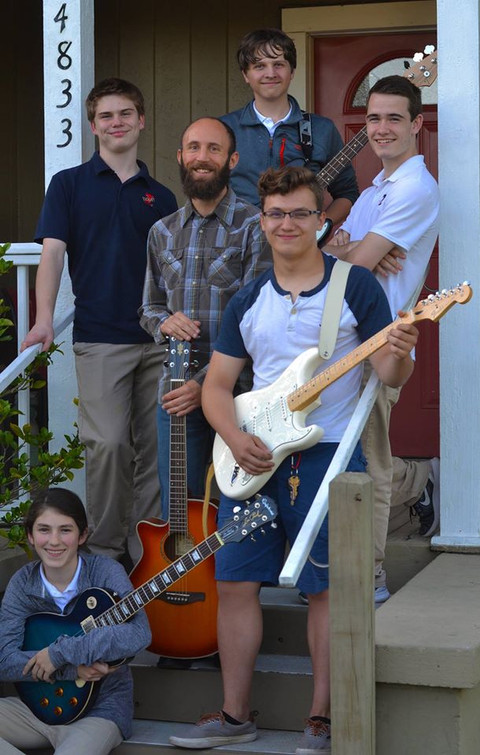 Ian Frazier and Garage Band group photo.