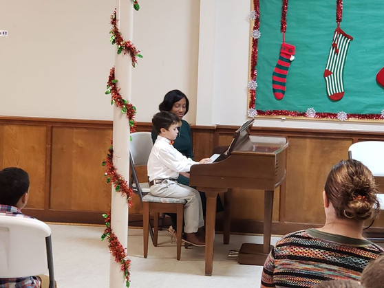 Shawnte and student at recital.jpg