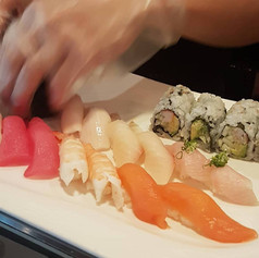 Sushi Platter in the making