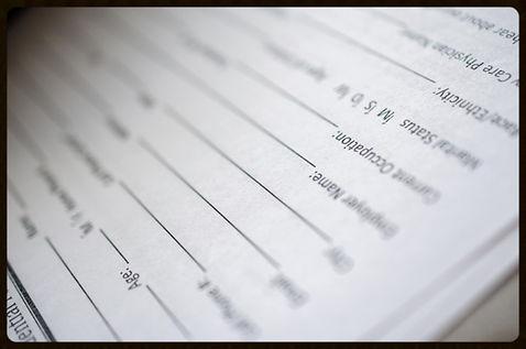 chiropractic paperwork