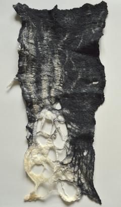 Tissu en feutre fabriqué à la main  Hand-made felt fabric
