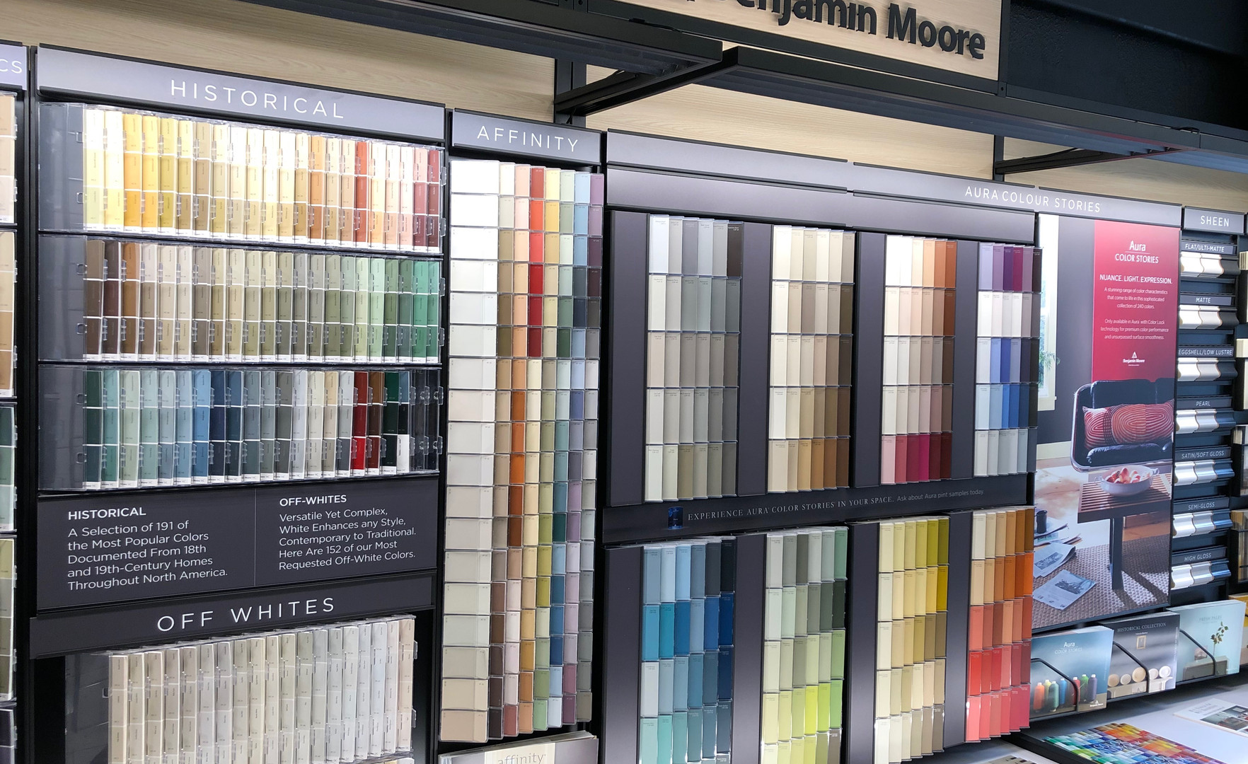 Benjamin Moore Colour Display