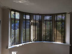 Timber Venetian - Bow Window