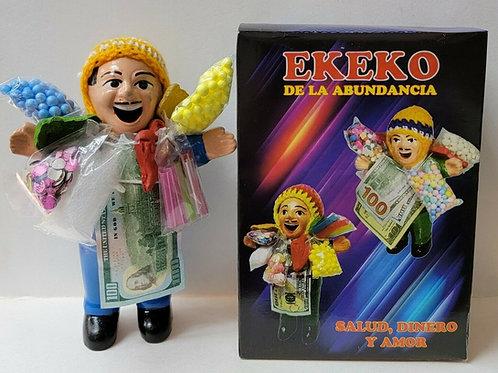 EKEKO CERAMIC DOLL 20cm EKEKO IN BOX PARA EL DINERO LA RIQUEZA Y BUENA SUERTE