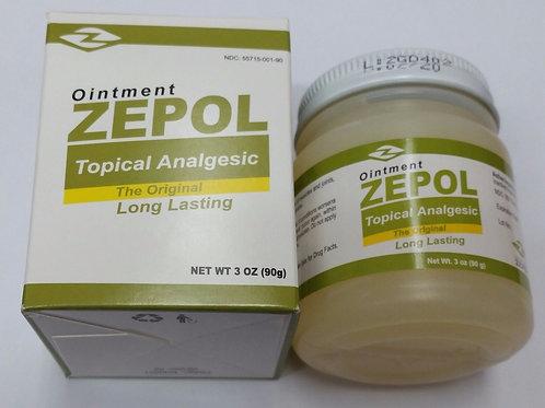 ZEPOL 2 PCS 3oz ea UNGUENTO FROTACION RESFRIOS DOLORES MUSCULARES ON SALE !
