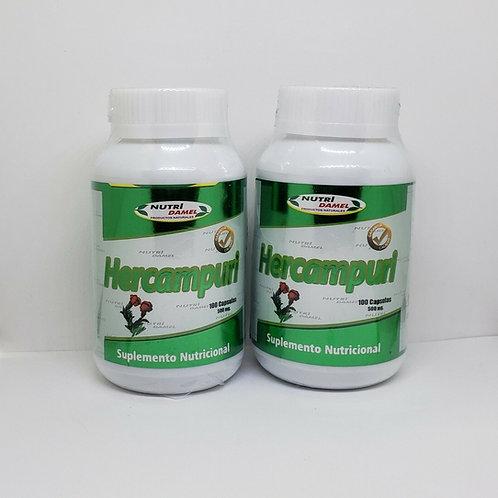HERCAMPURI 500MG 200 CAPSULES FAT BURNER FROM PERU 100% GUARANTED