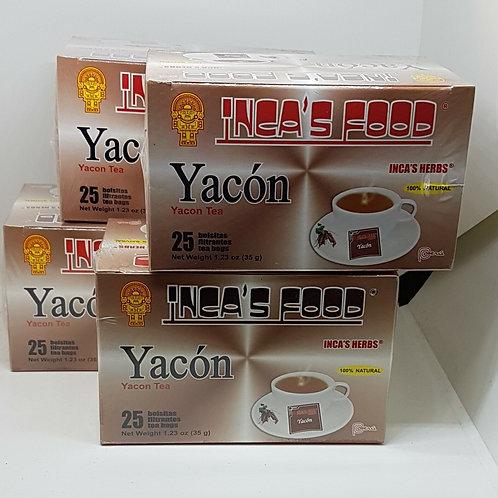 YACON 100 TEA BAG HERBS 100% DIABETIS NATURAL BLOOD SUGAR REGULATOR FROM PERU