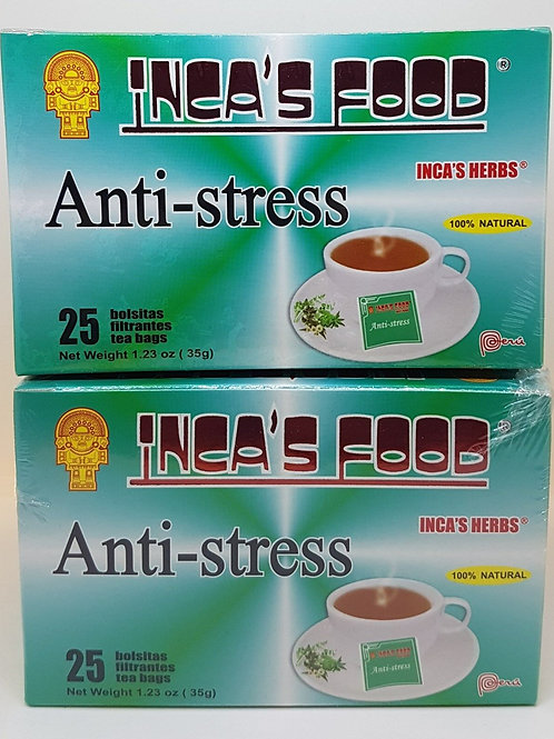 ANTI-STRESS 50 TEA bag RELIEF AND CALMING EFFECT 100% NATURAL HERBS FROM PERU !!